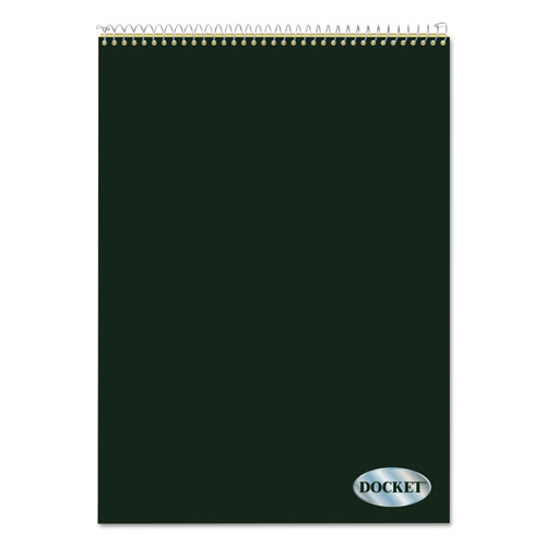 Docket Ruled Wirebound Pad, Wide/Legal Rule, Green Cover, 8.5 x 11.75, 70 Sheets | by Plexsupply
