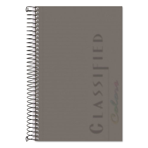 Color Notebooks, 1 Subject, Narrow Rule, Graphite Cover, 8.5 x 5.5, 100 Sheets | by Plexsupply