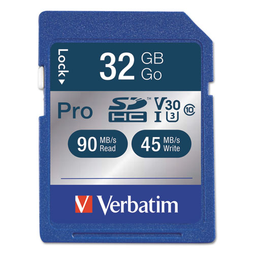 Pro 600x sdhc memory card, class 10 uhs-1, 32gb, sold as 1 each