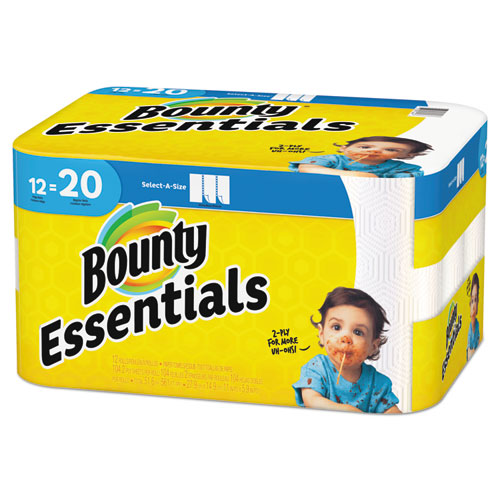 Essentials Select A Size Paper Towels 2 Ply 104 Sheets