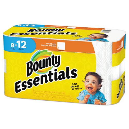 Bounty® Essentials Paper Towels, 2-Ply, 60 Sheets/Roll, 8 Rolls/Carton