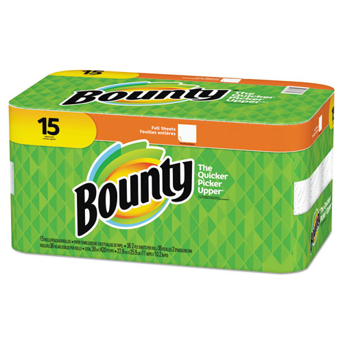 607ebc46a62 Bounty Paper Towels 2 Ply White 36 Sheets Roll 15 Rolls Carton