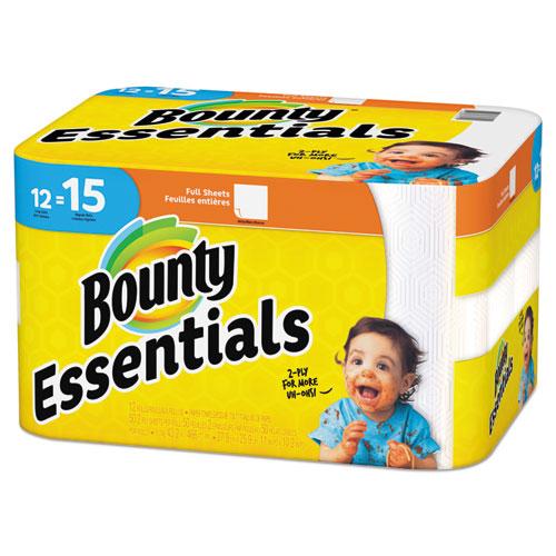 Bounty® Essentials Paper Towels, 50 Sheets/Roll, 12 Rolls/Carton