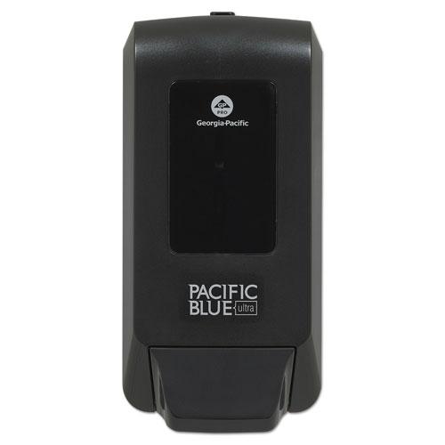 Georgia Pacific® Professional Pacific Blue Ultra Soap/Sanitizer Dispenser f/1200mL Refill, Black, 5.6x4.4x11.5