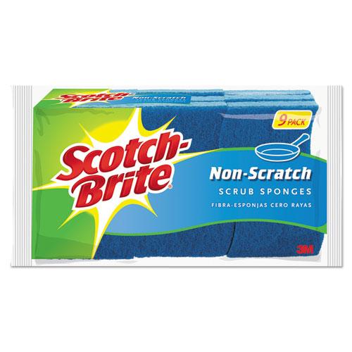 Scotch-Brite® Non-Scratch Multi-Purpose Scrub Sponge, 4 2/5 x 2 3/5, Blue, 6/Pack