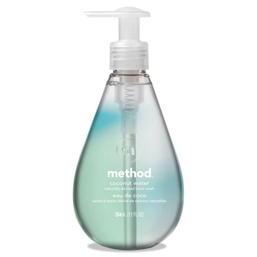 Method® Gel Hand Wash, Coconut Waters, 12 oz Pump Bottle, 6/Carton