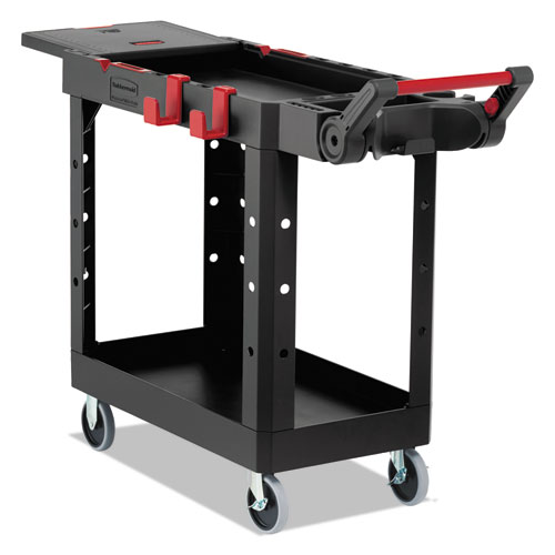 Heavy Duty Adaptable Utility Cart, 2 Shelves, 17.8w x 46.2d x 36h, Black