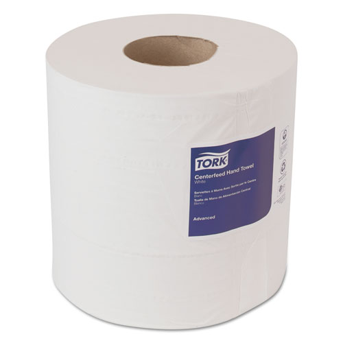 Tork® Advanced Centerfeed Hand Towel, 1-Ply, 8.25 x 11.8, White, 1000/Roll, 6/Carton