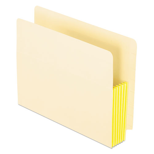 "Manila Drop Front Shelf File Pockets, 5.25"" Expansion, 10 Sections, Letter Size, Manila, 10/Box 