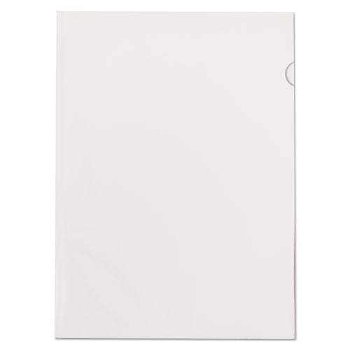Poly Color Transparent File Jackets, Letter Size, Clear, 50/Box | by Plexsupply