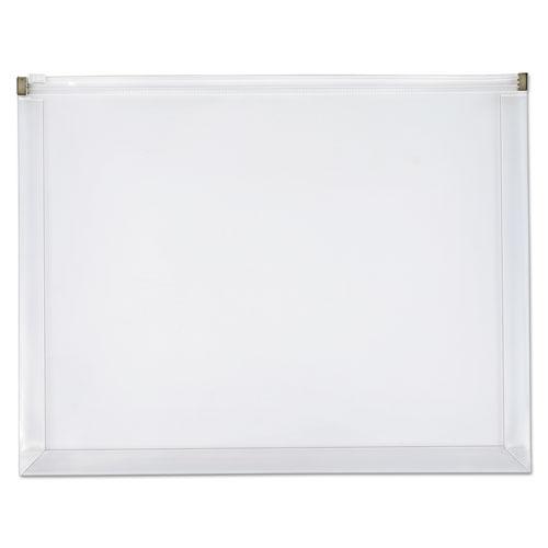 Poly Zip Envelope, Zipper Closure, 10 x 13, Clear, 5/Pack