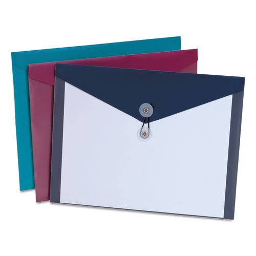 Poly Envelopes, Letter Size, Assorted Colors, 4/Pack | by Plexsupply