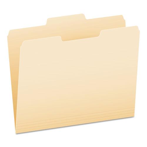 Manila File Folders, 1/3-Cut Tabs, Center Position, Letter Size, 100/Box | by Plexsupply