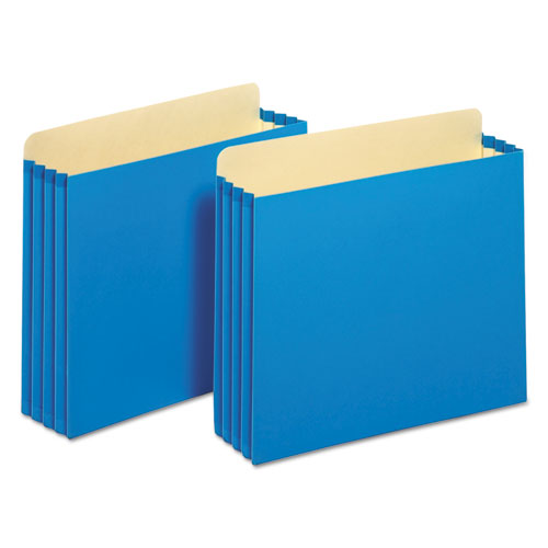 "File Cabinet Pockets, 3.5"" Expansion, Letter Size, Blue, 10/Box 