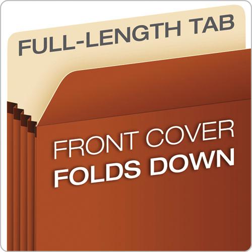 """Pocket File, 3.5"""" Expansion, Letter Size, Red Fiber"""