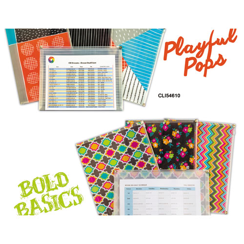 Playful Pops and Bold Basics Zip N Go Reusable Envelope, 13.13 x 10, 3/Pack