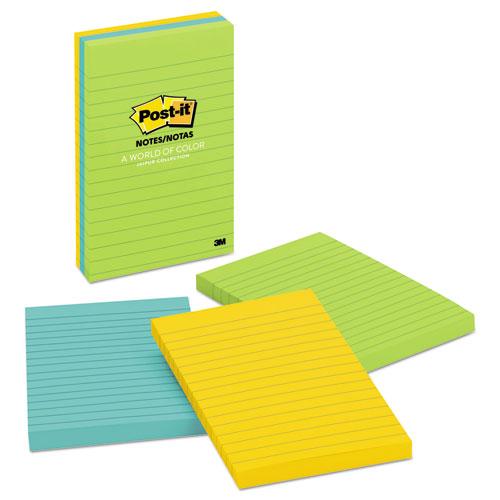 Original Pads in Jaipur Colors, Lined, 4 x 6, 100-Sheet, 3/Pack