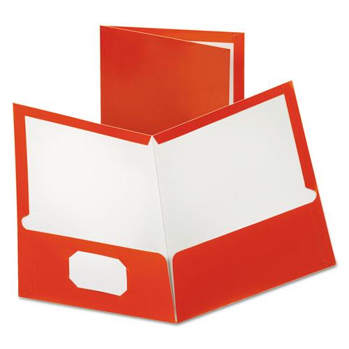 Two-Pocket Laminated Paper Folder, 100-Sheet Capacity, Metallic Copper