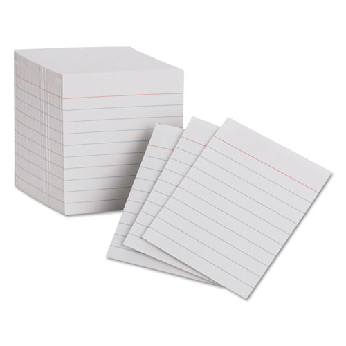 Ruled Mini Index Cards, 3 x 2 1/2, White, 200/Pack | by Plexsupply