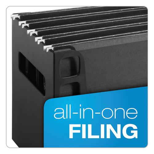 Desktop File W Hanging Folders Letter Plastic 12 1 4 X