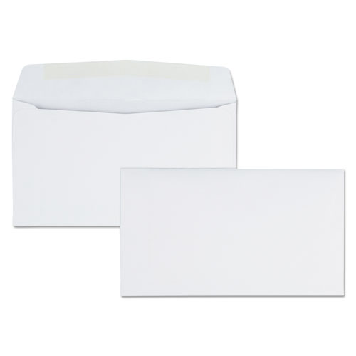 Business Envelope, #6 3/4, Commercial Flap, Gummed Closure, 3.63 x 6.5, White, 500/Box | by Plexsupply