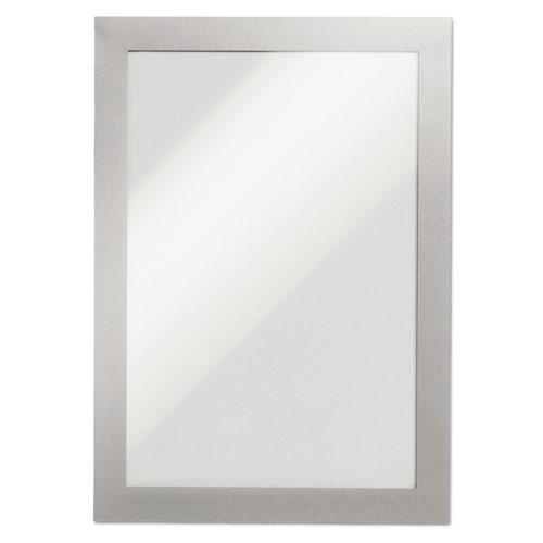 DURAFRAME Sign Holder, 5 1/2 x 8 1/2, Silver, 2/PK