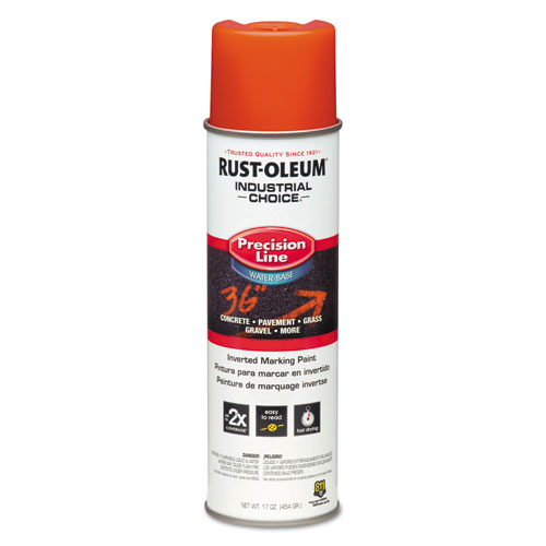 Industrial Choice Precision Line Marking Paint, Orange, 20 oz Aerosol
