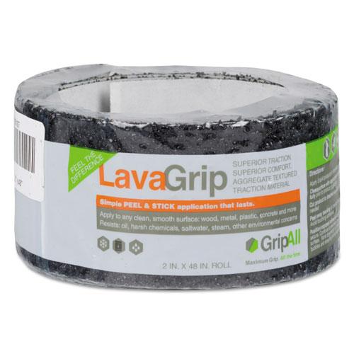 LavaGrip Anti-Slip Adhesive Strips, 2 x 48, Black