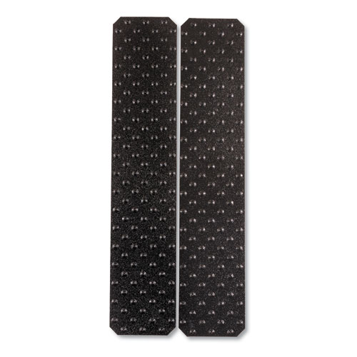 XtremeGrip Studded Anti-Slip Adhesive Strips, 5 x 24, Black