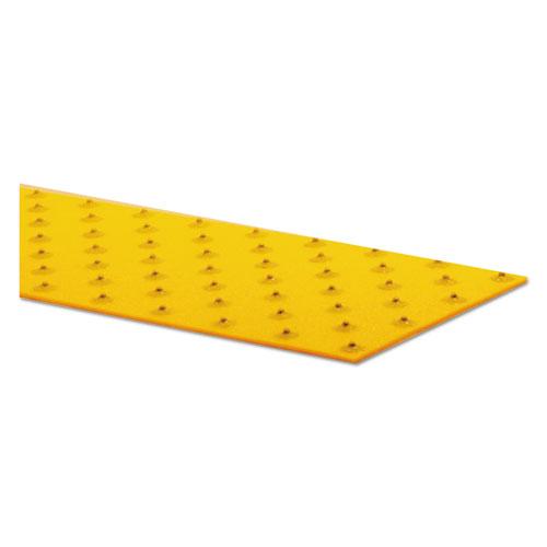 XtremeGrip Studded Anti-Slip Adhesive Strips, 5 x 24, Yellow