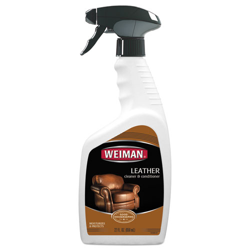 WEIMAN® Leather Cleaner and Conditioner, Floral Scent, 22 oz Trigger Spray Bottle, 6/CT