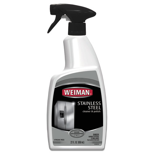 Stainless Steel Cleaner and Polish, Floral Scent, 22 oz Spray Bottle, 6/CT