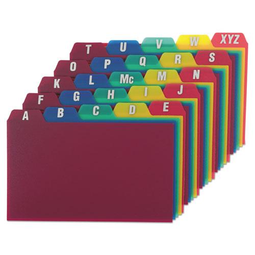 Card Guides, Alpha, 1/5 Tab, Polypropylene, 3 x 5, 25/Set | by Plexsupply