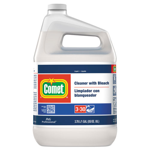Comet® Cleaner with Bleach, Liquid, One Gallon Bottle, 3/Carton