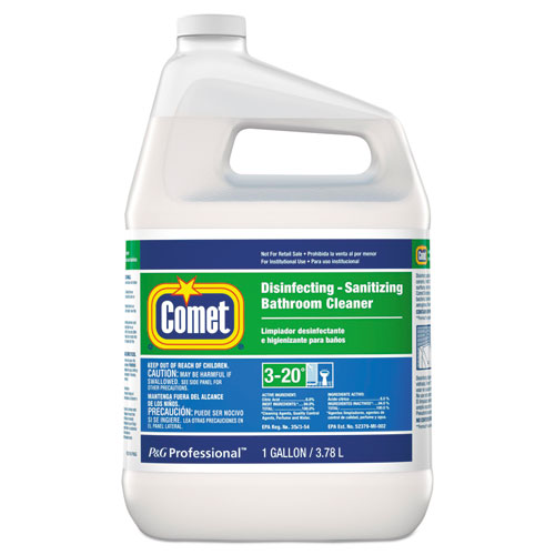 Comet® Disinfecting-Sanitizing Bathroom Cleaner, One Gallon Bottle, 3/Carton