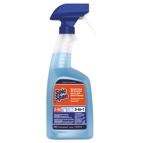 Spic and Span® Disinfecting All-Purpose Cleaner, Fresh Scent, 32 oz Spray Bottle, 8/CT