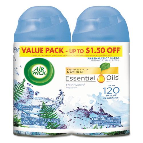 Freshmatic Ultra Spray Refill, Fresh Waters, Aerosol, 5.89 oz, 2/Pack 3 Packs/Carton | by Plexsupply