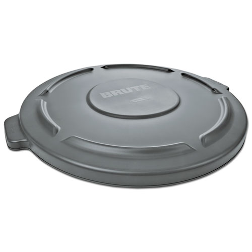 Round Flat Top Lid, for 55 gal Round BRUTE Containers, 26.75 diameter, Gray
