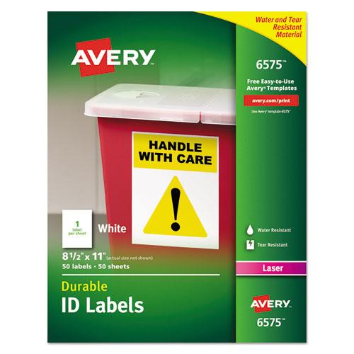 avery permanent id labels w trueblock technology laser 8 1 2 x 11