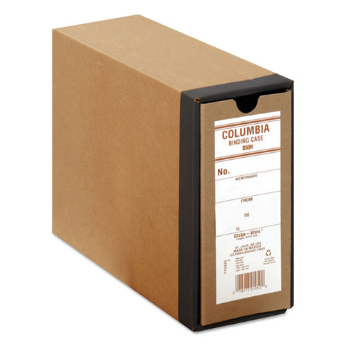 "COLUMBIA Recycled Binding Cases, 2 Rings, 3.13"" Capacity, 11 x 8.5, Kraft 