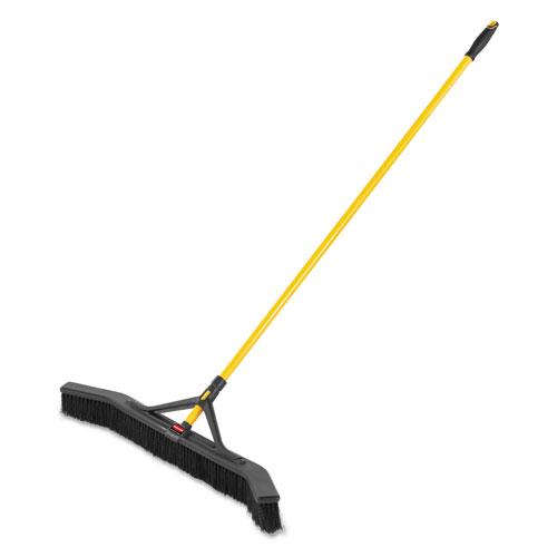 Maximizer Push-to-Center Broom, 36, Polypropylene Bristles, Yellow/Black