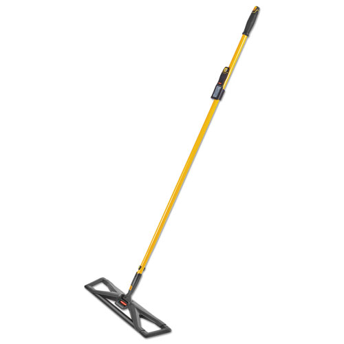 Maximizer Dust Mop Frame with Handle and Scraper, 24 x 5.5, Yellow/Black