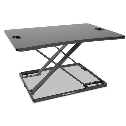 "Alera® AdaptivErgo Ultra-Slim Sit-Stand Desk, 31.33"" x 21.63"" x 1.5"" to 16"", Black"