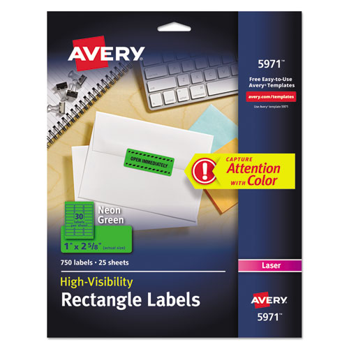 high visibility permanent id labels by avery ave5971