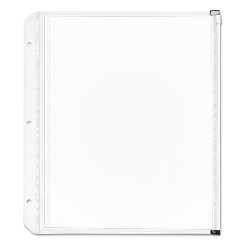 Expanding Zipper Binder Pockets, 11 x 8 1/2, Clear, 3/Pack