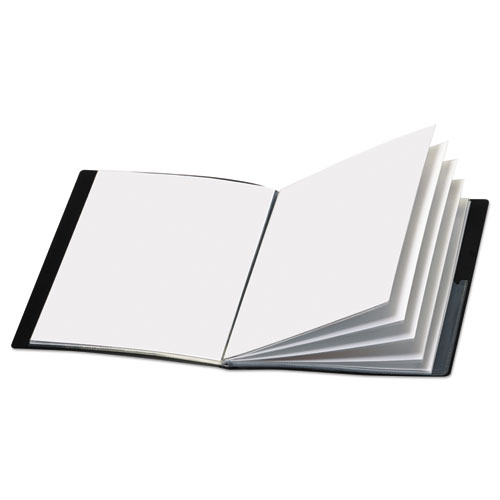 Cardinal® ShowFile Display Book w/Custom Cover Pocket, 12 Letter-Size Sleeves, Black