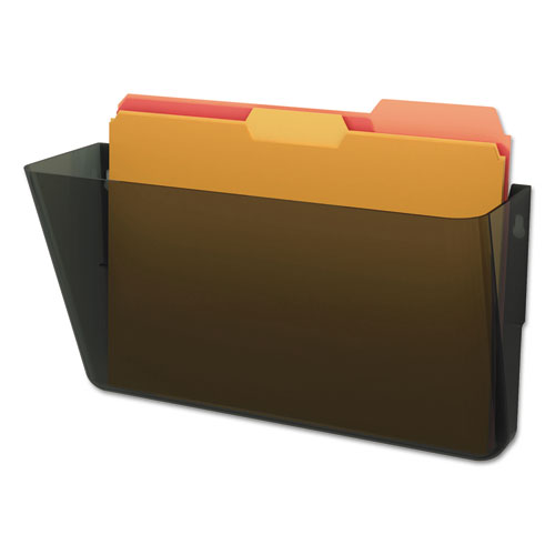 DocuPocket Stackable Wall Pocket, Letter, 13 x 7 x 4, Smoke