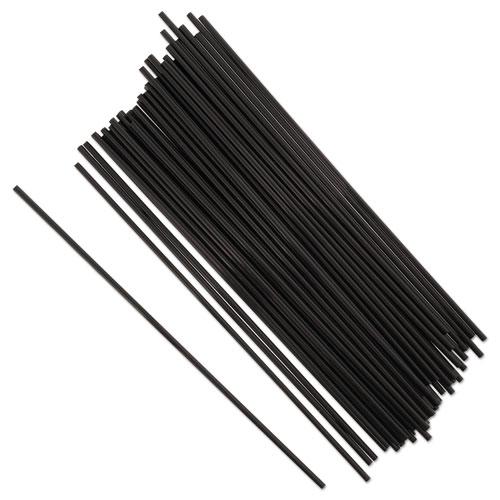 Sip Straws, 7.5, Black, 10000/Carton