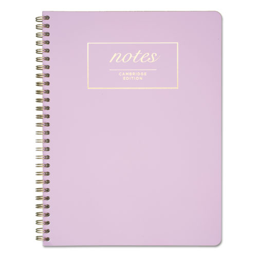 Workstyle Notebook, 1 Subject, Wide/Legal Rule, Lavender Cover, 9.5 x 7.25, 80 Pages