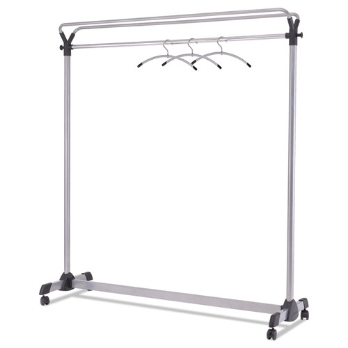 Large Capacity Garment Rack, 63.5w x 21.25d x 67.5h, Black/Silver